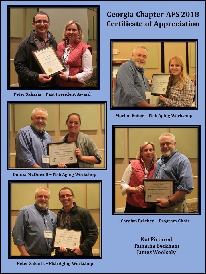 2018 COA Awardees
